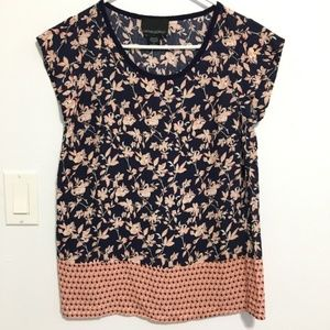 Two tone Cynthia Rowley blouse